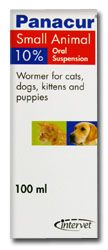 Panacur 10% Oral Suspension for Cats & Dogs
