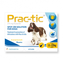 Prac-tic Spot-On for Medium Dogs - 6 Pack