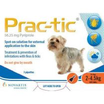 Prac-tic Spot-On for Very Small Dogs - 6 Pack